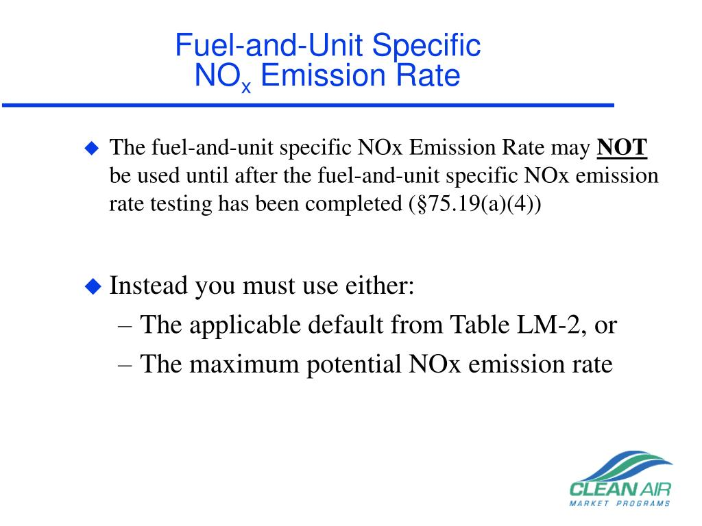 Fuel-and-Unit Specific