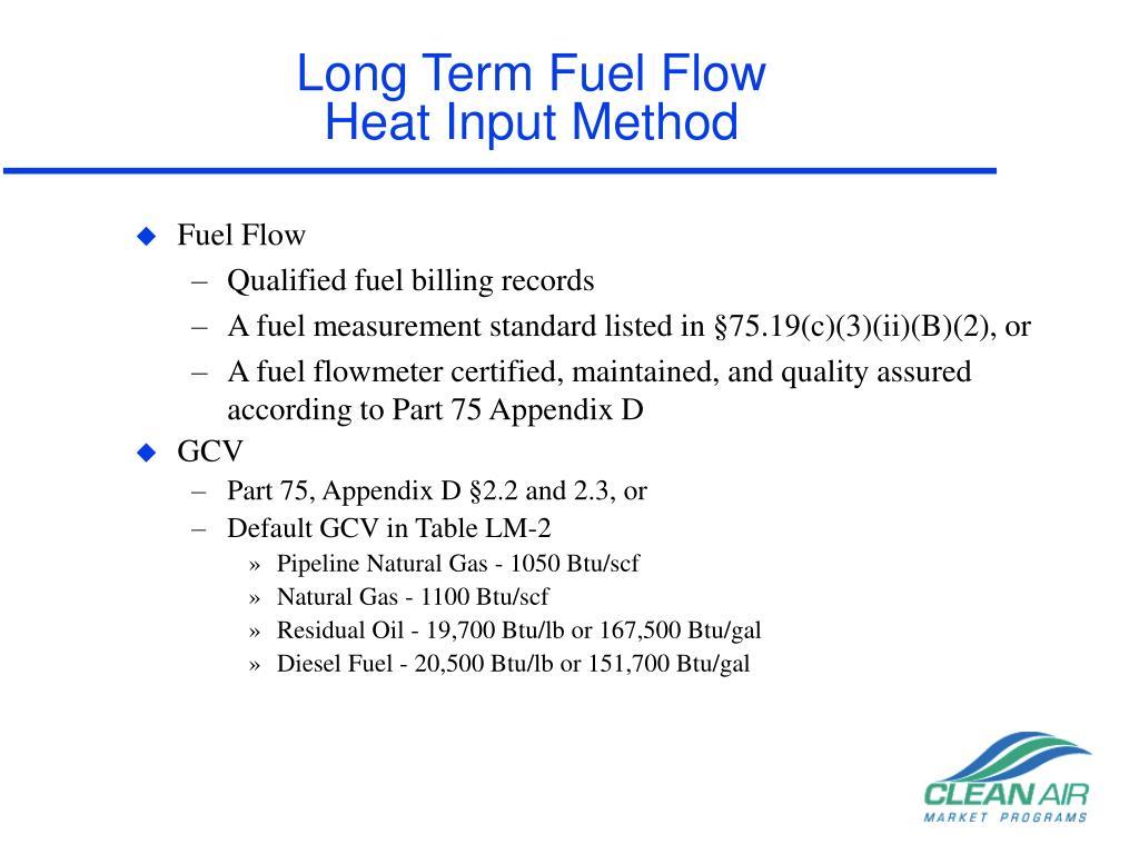 Long Term Fuel Flow