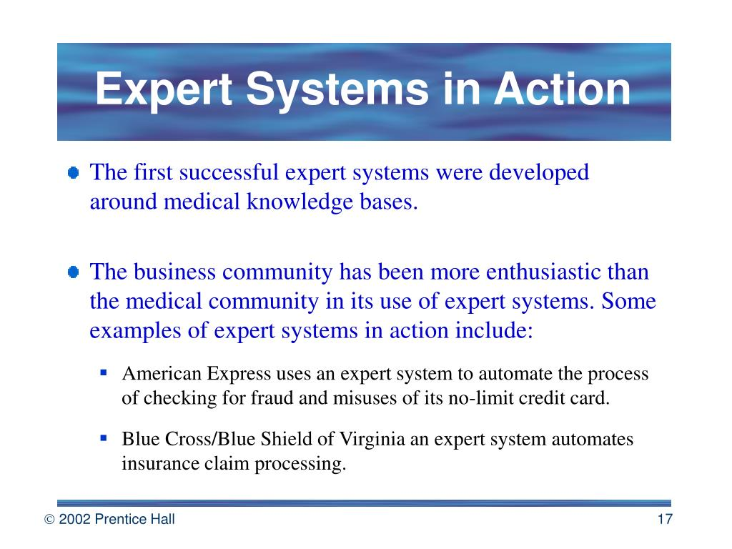 Expert Systems in Action