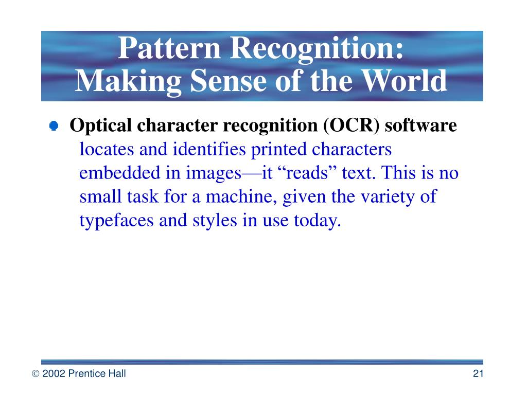 Pattern Recognition: