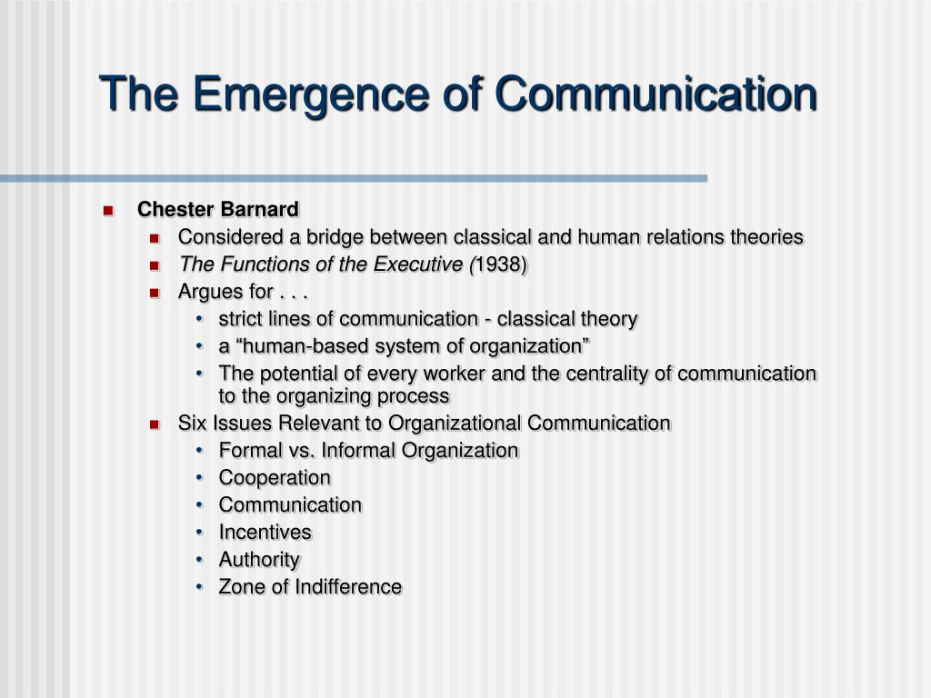 The Emergence of Communication