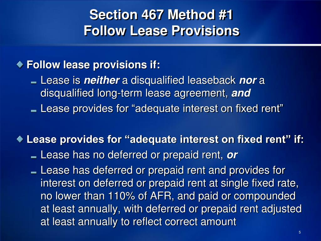 Section 467 Method #1