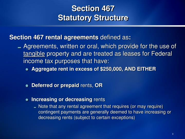 Section 467 statutory structure