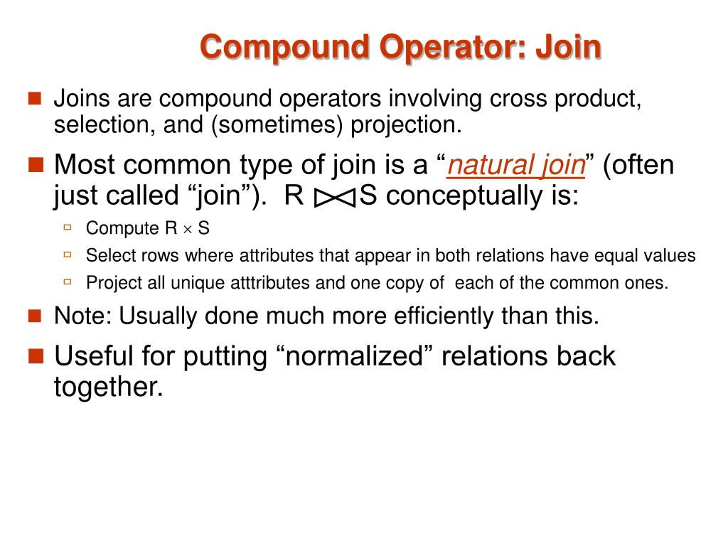 Compound Operator: Join