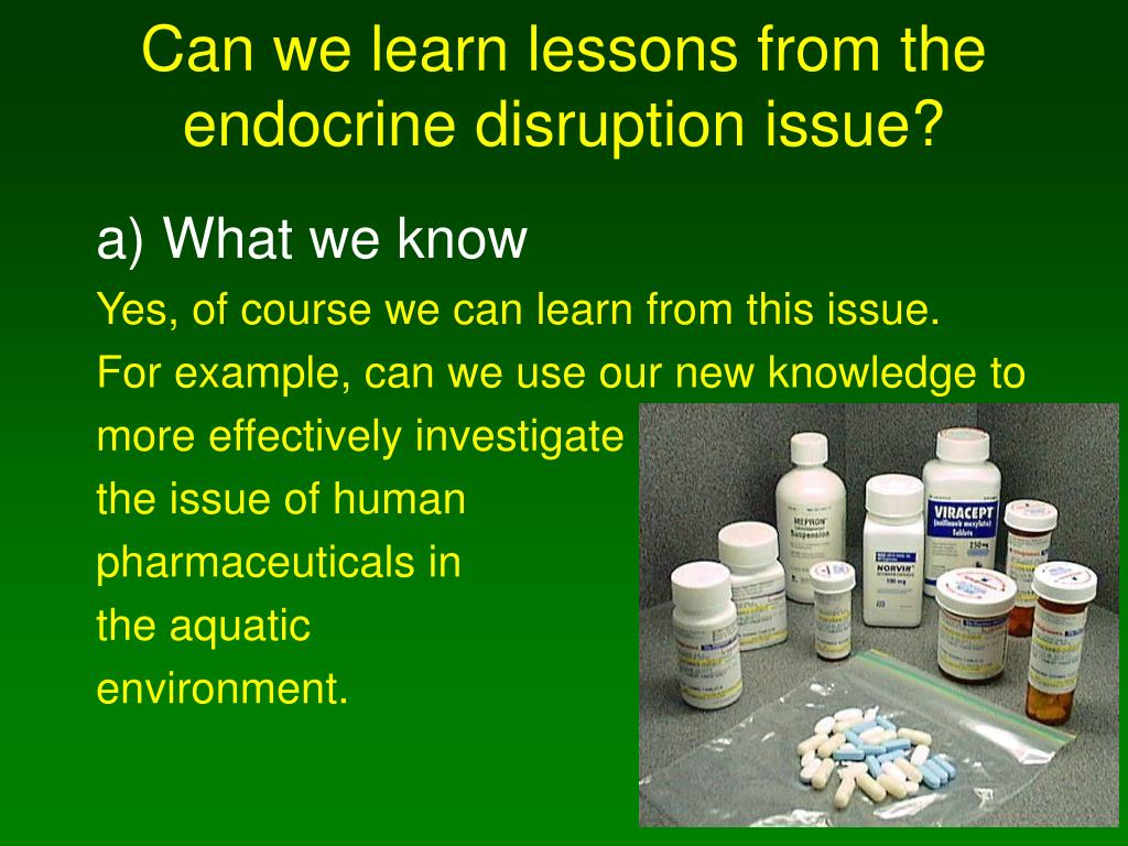 Can we learn lessons from the endocrine disruption issue?