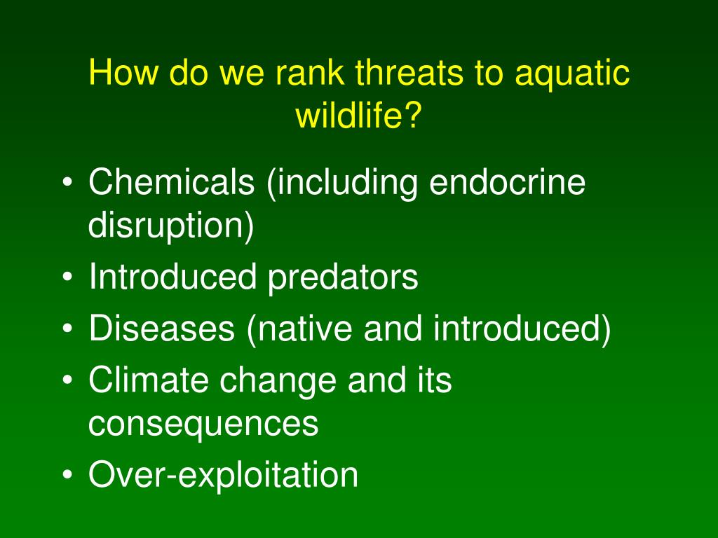 How do we rank threats to aquatic wildlife?