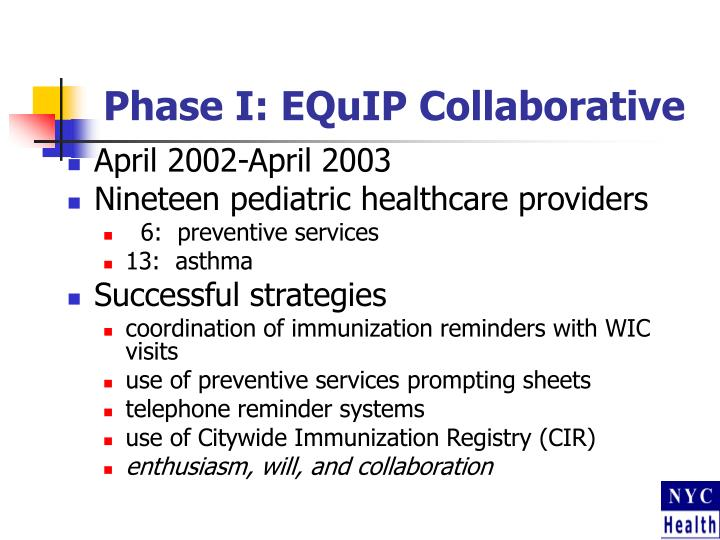 Phase I: EQuIP Collaborative