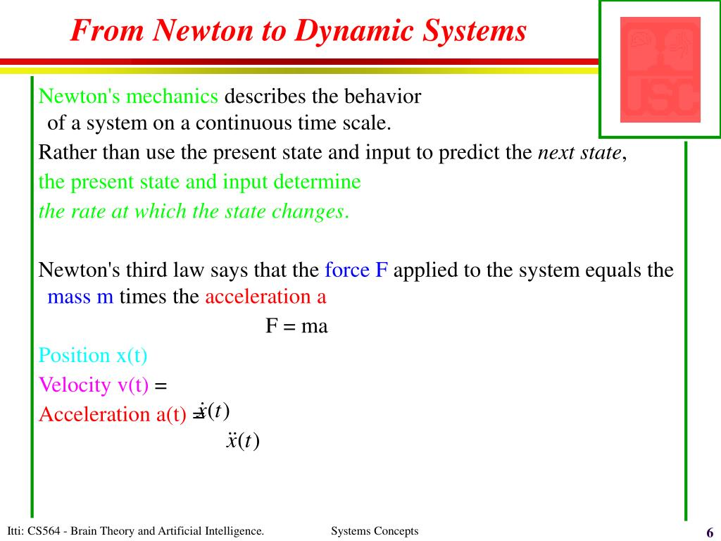 From Newton to Dynamic Systems