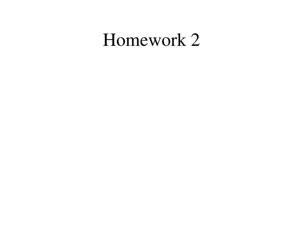 Homework 2