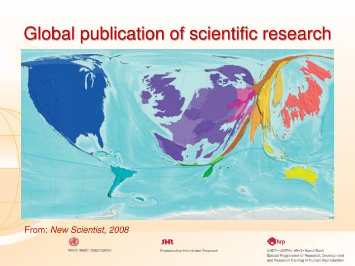 Global publication of scientific research