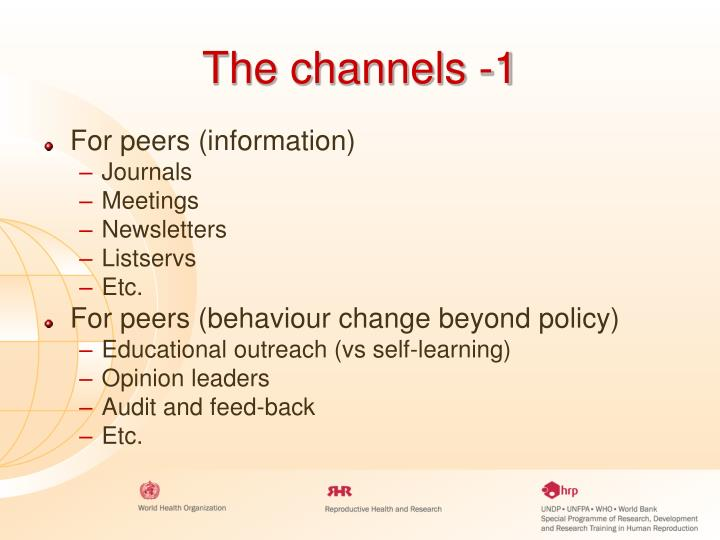 The channels -1