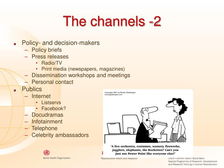 The channels -2