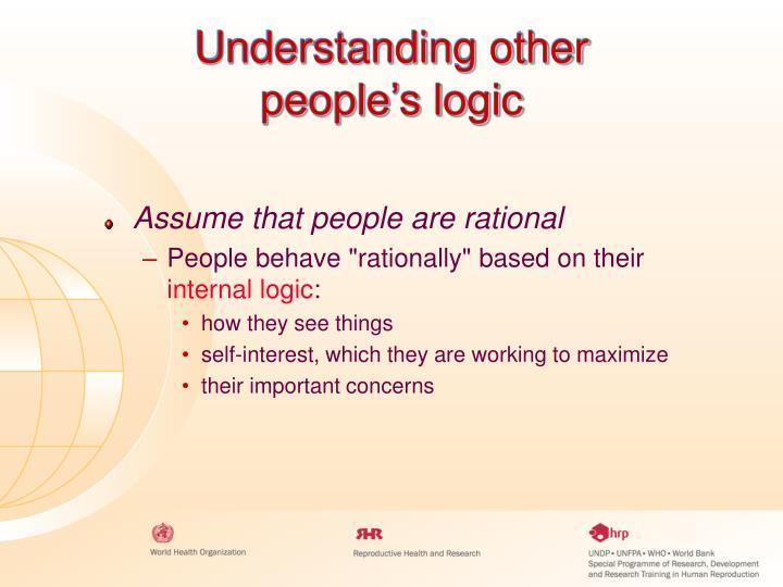 Understanding other