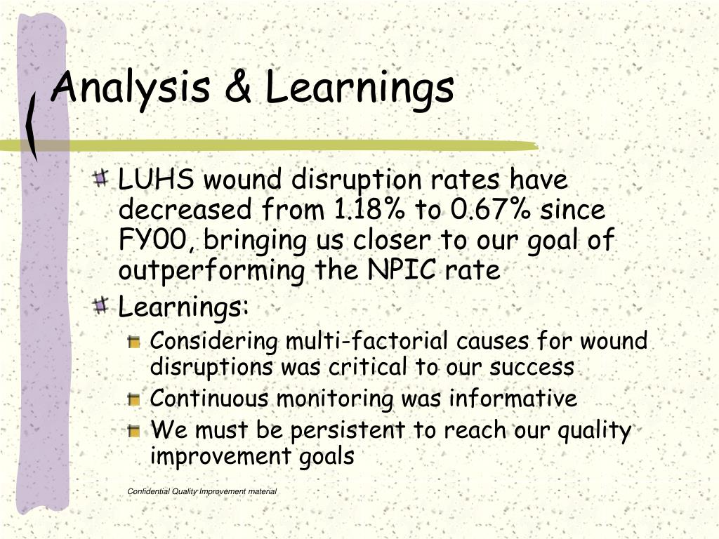 Analysis & Learnings