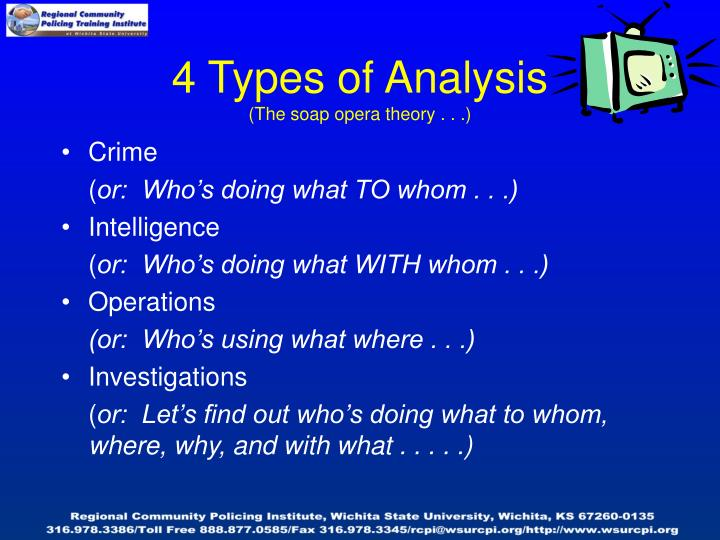4 types of analysis the soap opera theory