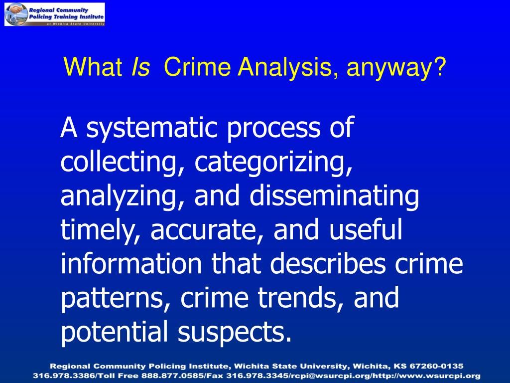 an analysis of the crime of Science crime busters notes science crime busters notes topic: student info: worksheets: coach notes: lesson plans: web resources:  hair analysis hair analysis.