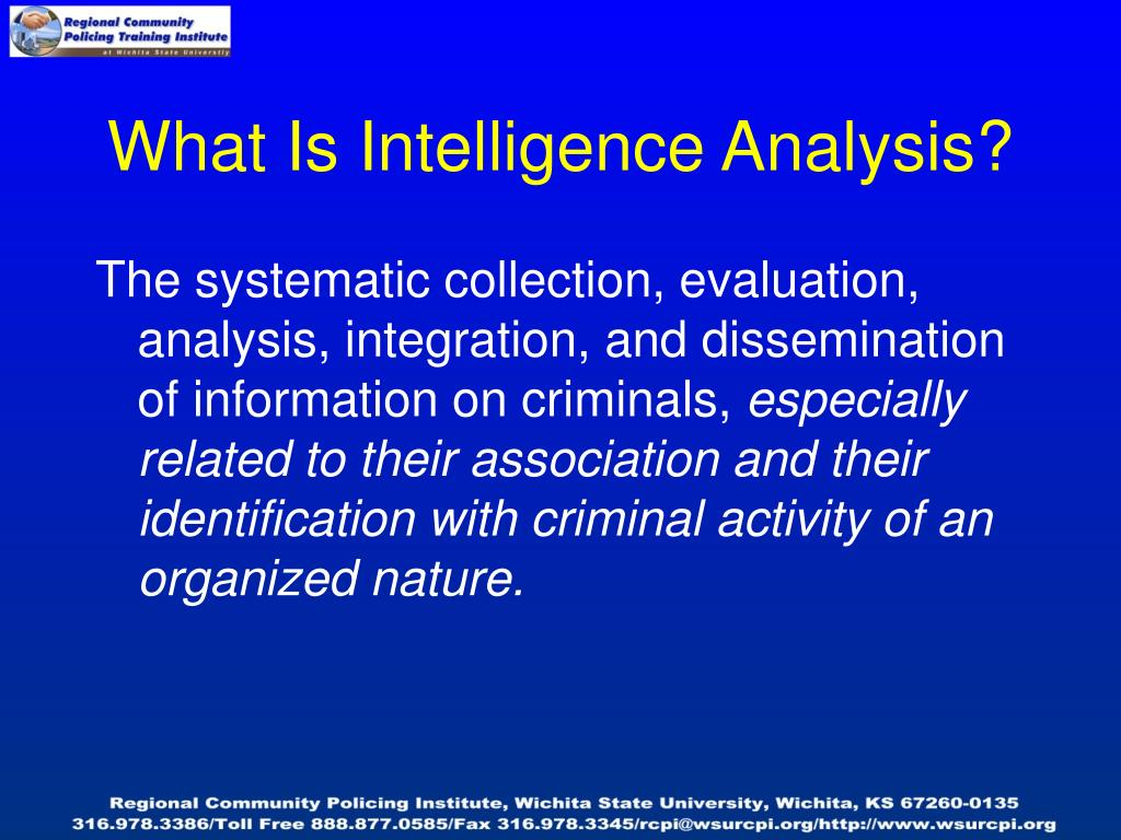 What Is Intelligence Analysis?