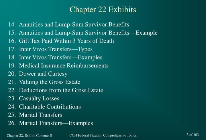 Chapter 22 exhibits3
