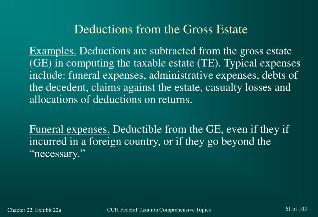 Deductions from the Gross Estate