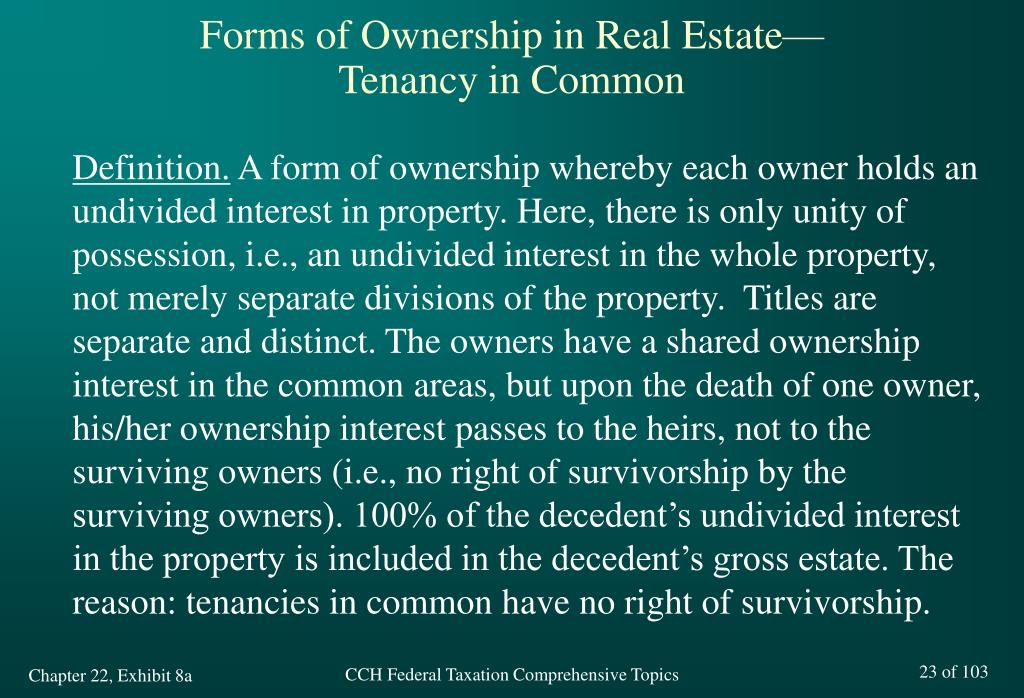 Forms of Ownership in Real Estate—