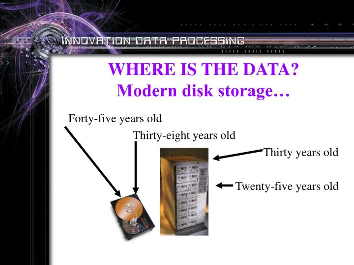 WHERE IS THE DATA?