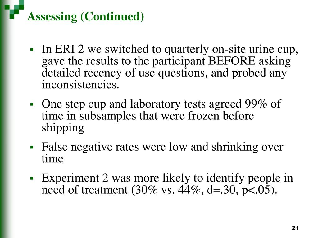 Assessing (Continued)