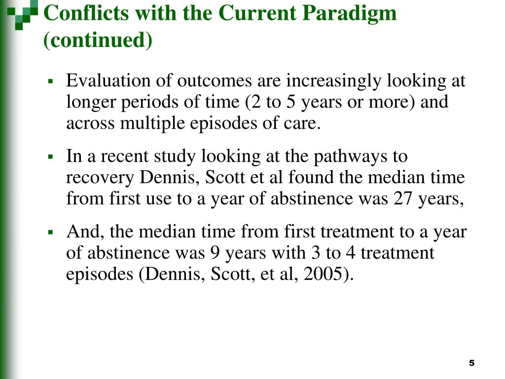 Conflicts with the Current Paradigm (continued)
