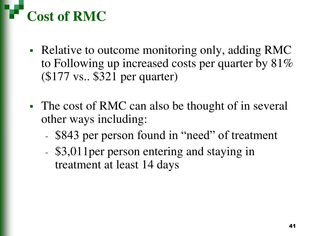 Cost of RMC