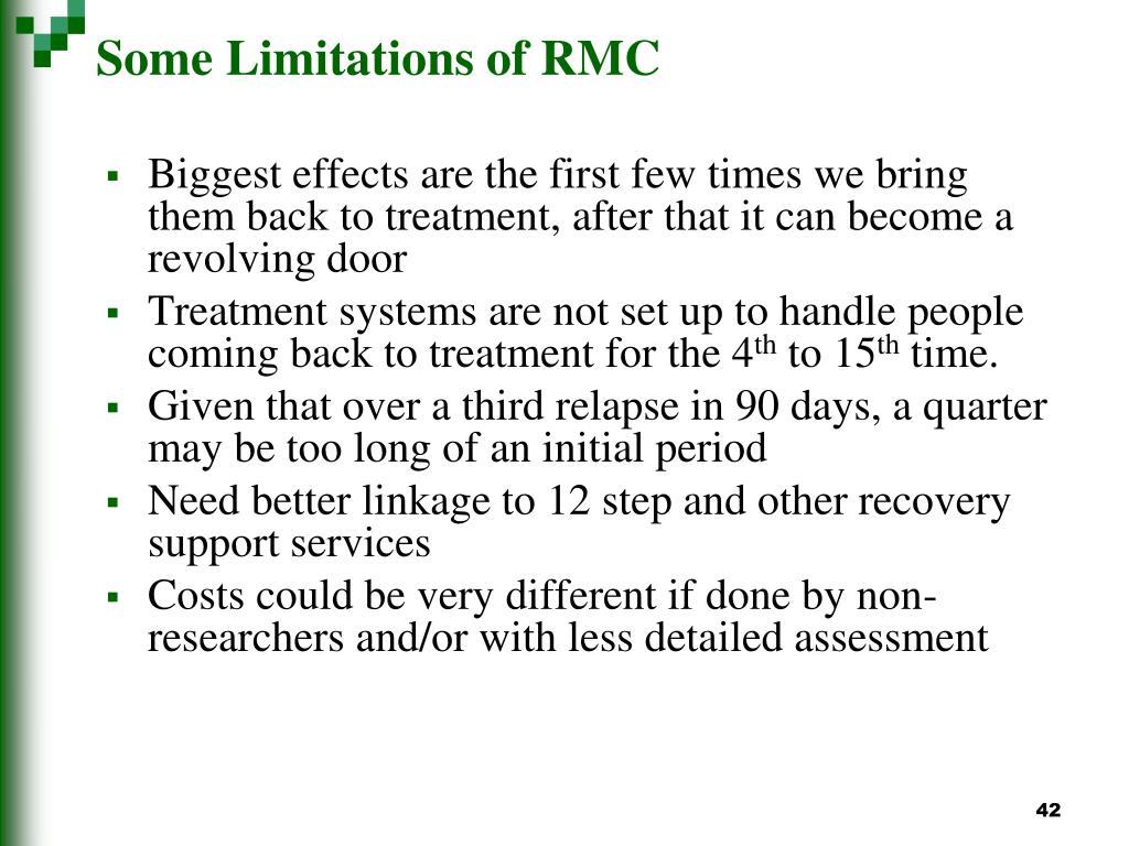 Some Limitations of RMC
