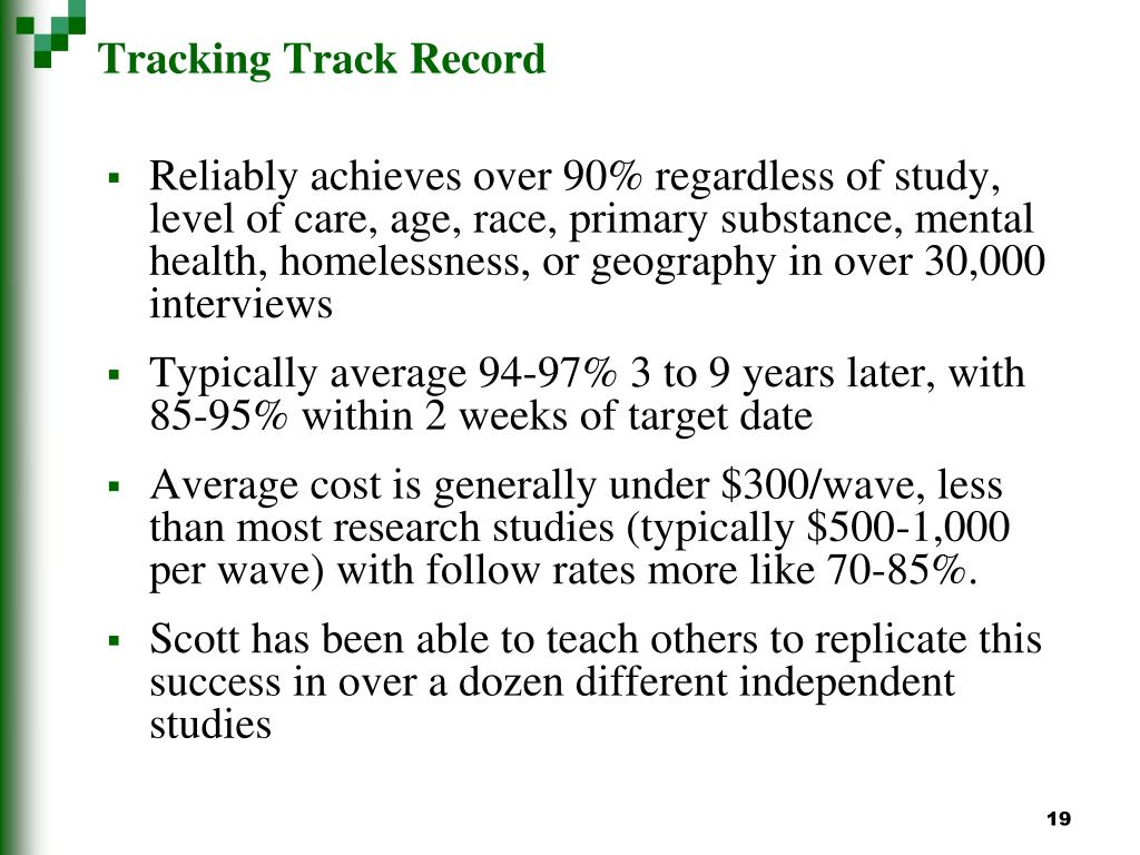 Tracking Track Record