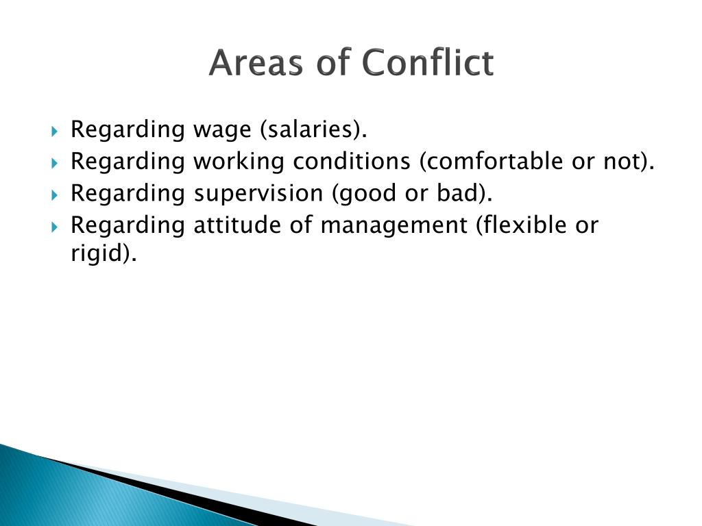 Areas of Conflict