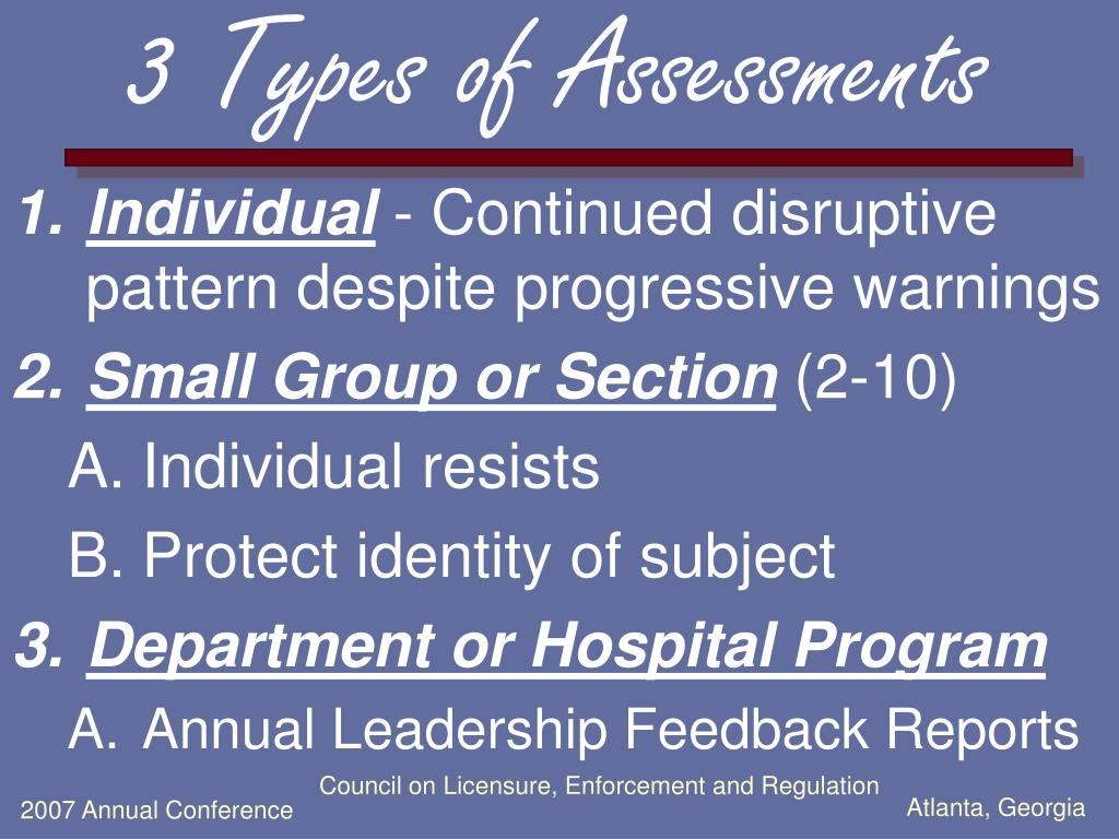 3 Types of Assessments