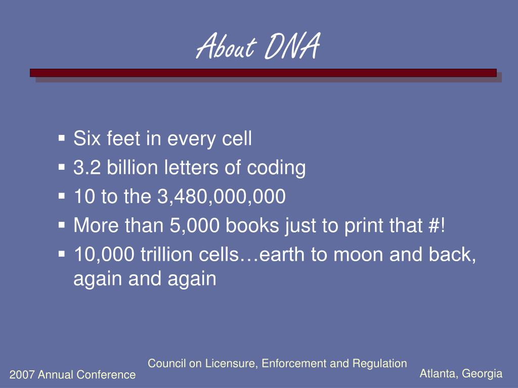 About DNA