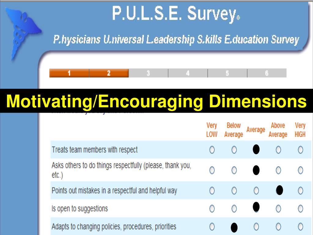 Motivating/Encouraging Dimensions
