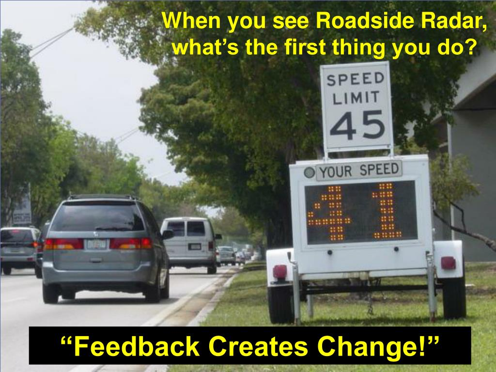 When you see Roadside Radar,        what's the first thing you do?