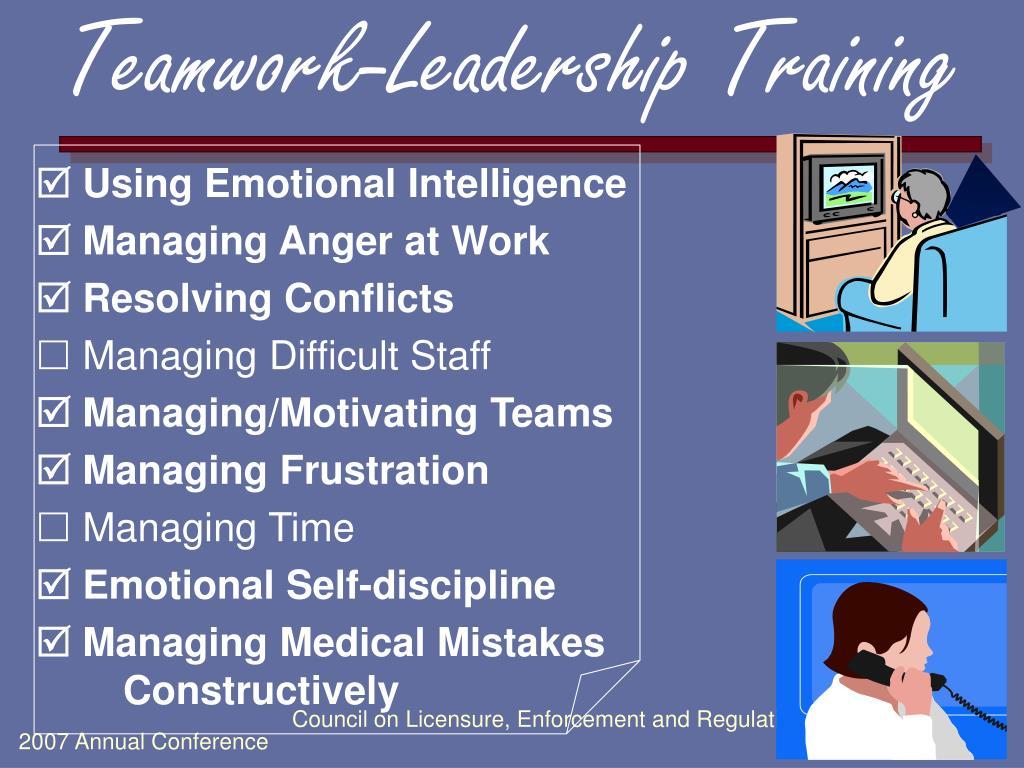 Teamwork-Leadership Training
