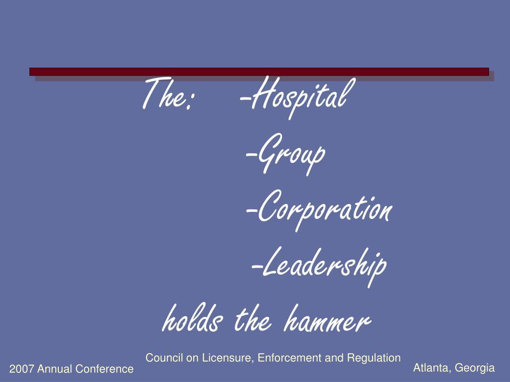The: -Hospital
