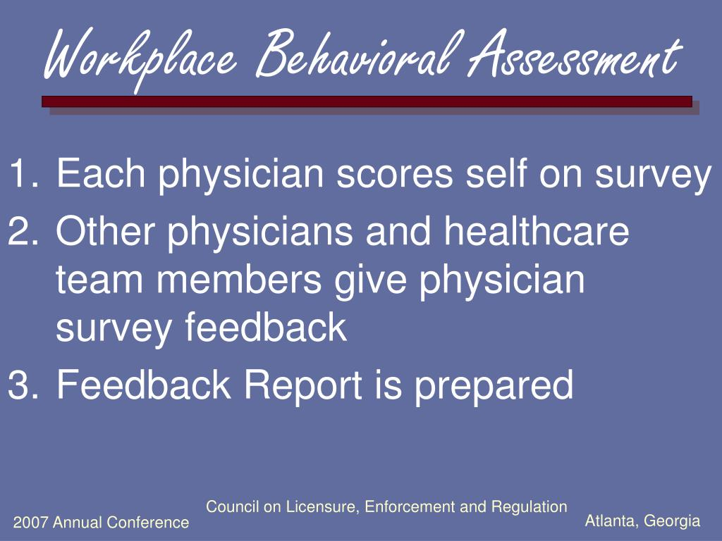 Workplace Behavioral Assessment
