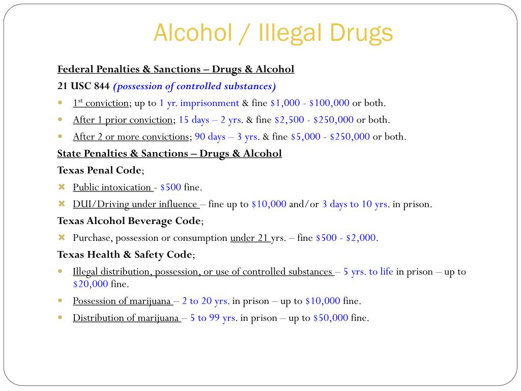Alcohol / Illegal Drugs