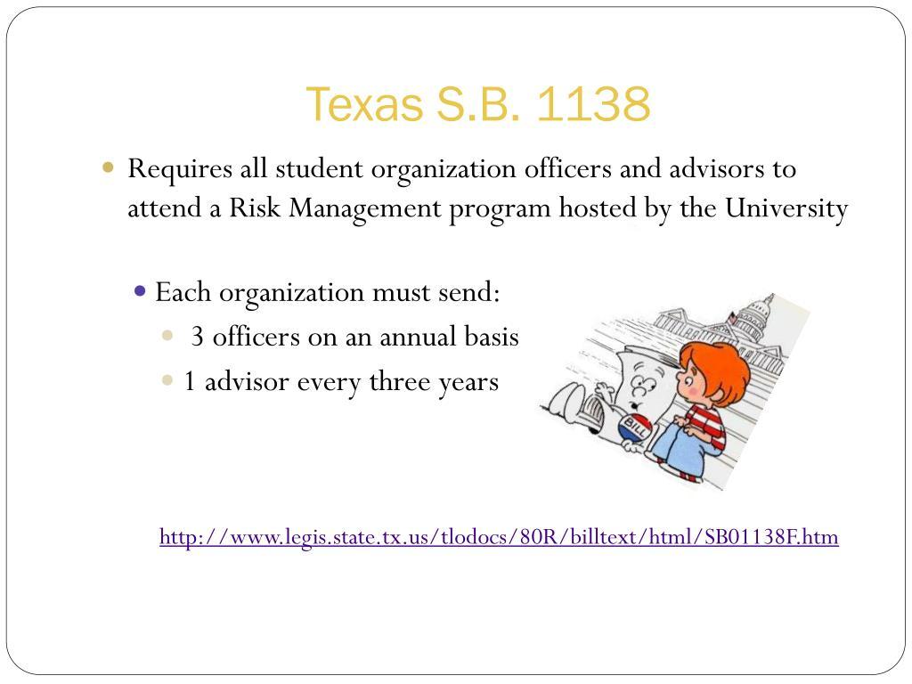 Texas S.B. 1138