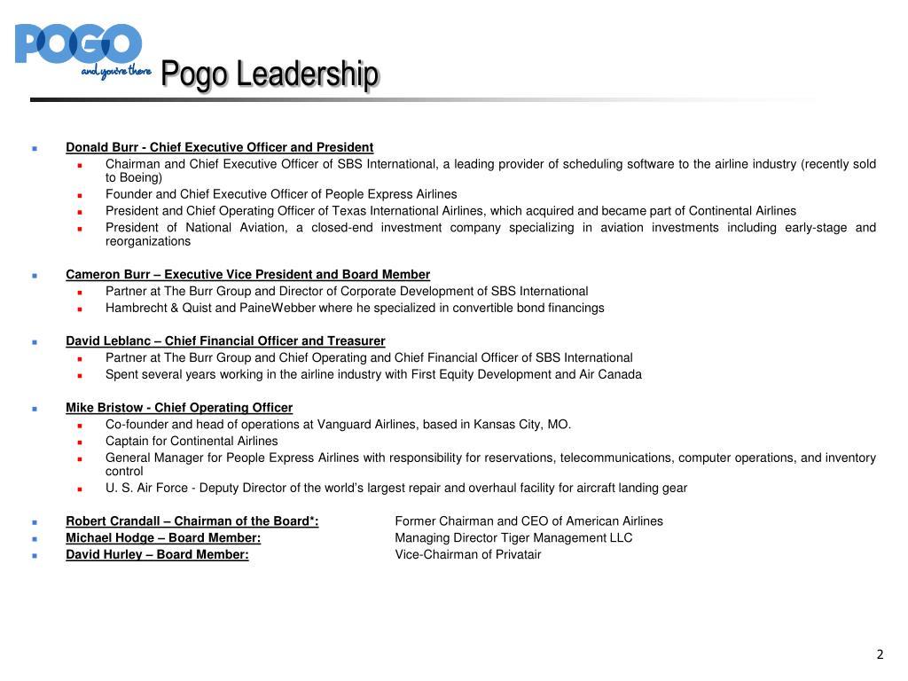 Pogo Leadership