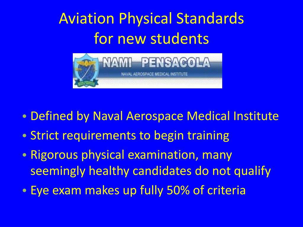 Aviation Physical Standards