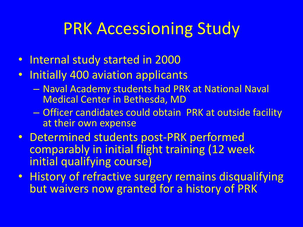 PRK Accessioning Study