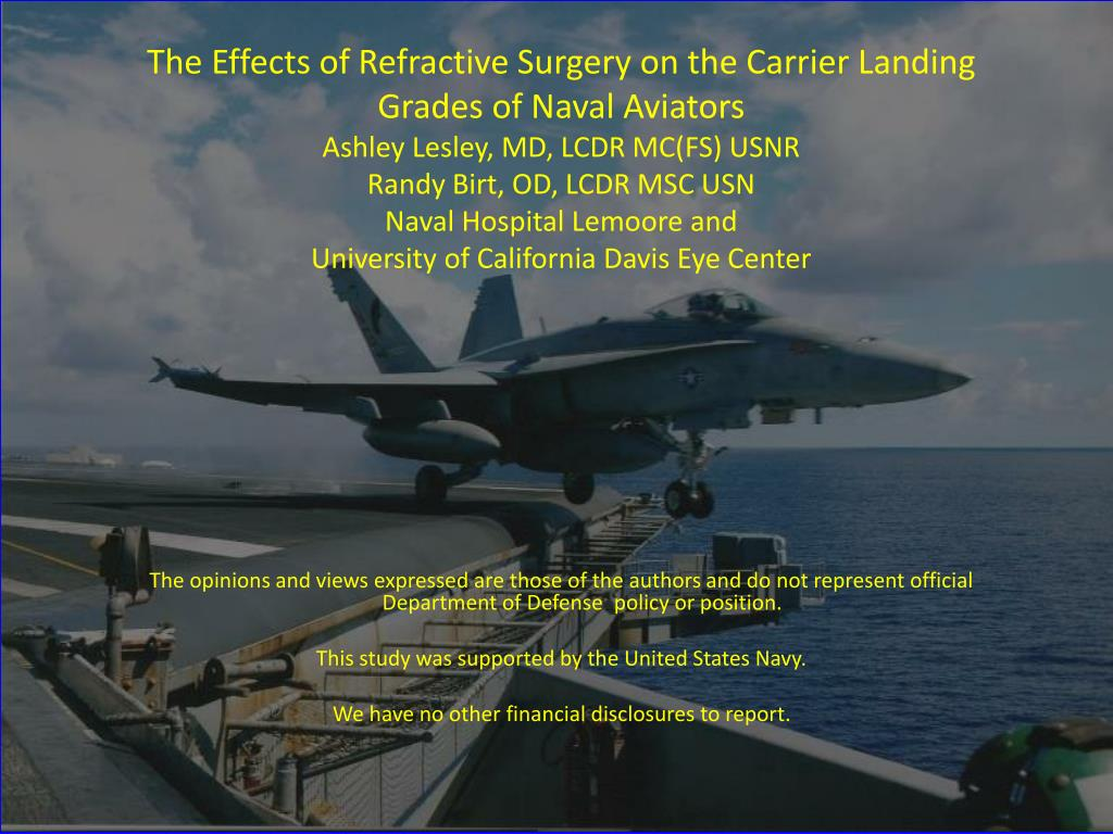 The Effects of Refractive Surgery on the Carrier Landing Grades of Naval Aviators
