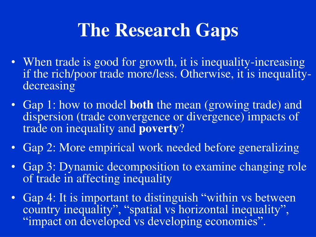 The Research Gaps