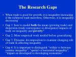 the research gaps6