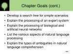 chapter goals cont