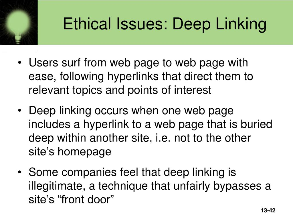Ethical Issues: Deep Linking