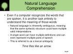 natural language comprehension