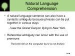 natural language comprehension38